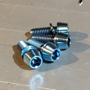 ice blue titanium bolts for hope brakes